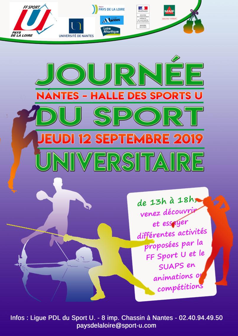 Calendrier Univ Nantes.Sport U Ligue Pays De La Loire Academie Nantes