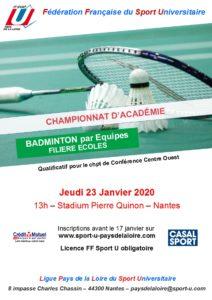 Badminton Ecoles (par équipes) @ Nantes | Nantes | Pays de la Loire | France
