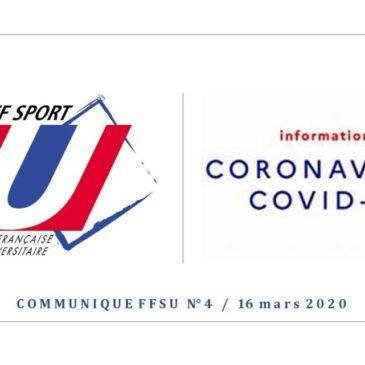 """Communiqué """"Coronavirus"""""""