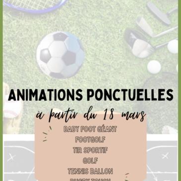 Animations ponctuelles : c'est parti !