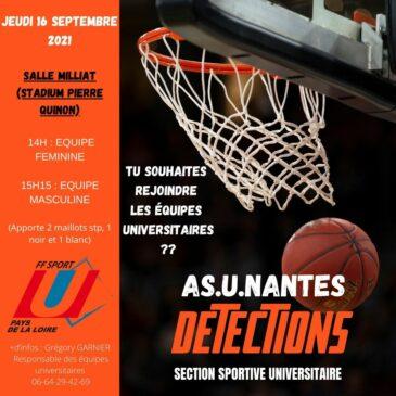BASKETBALL ASU NANTES – Détection